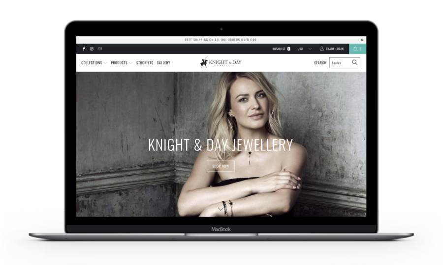 Knight and Day homepage example